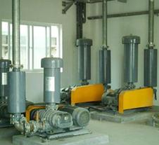 龙铁工业污水处理项目罗茨风机应用