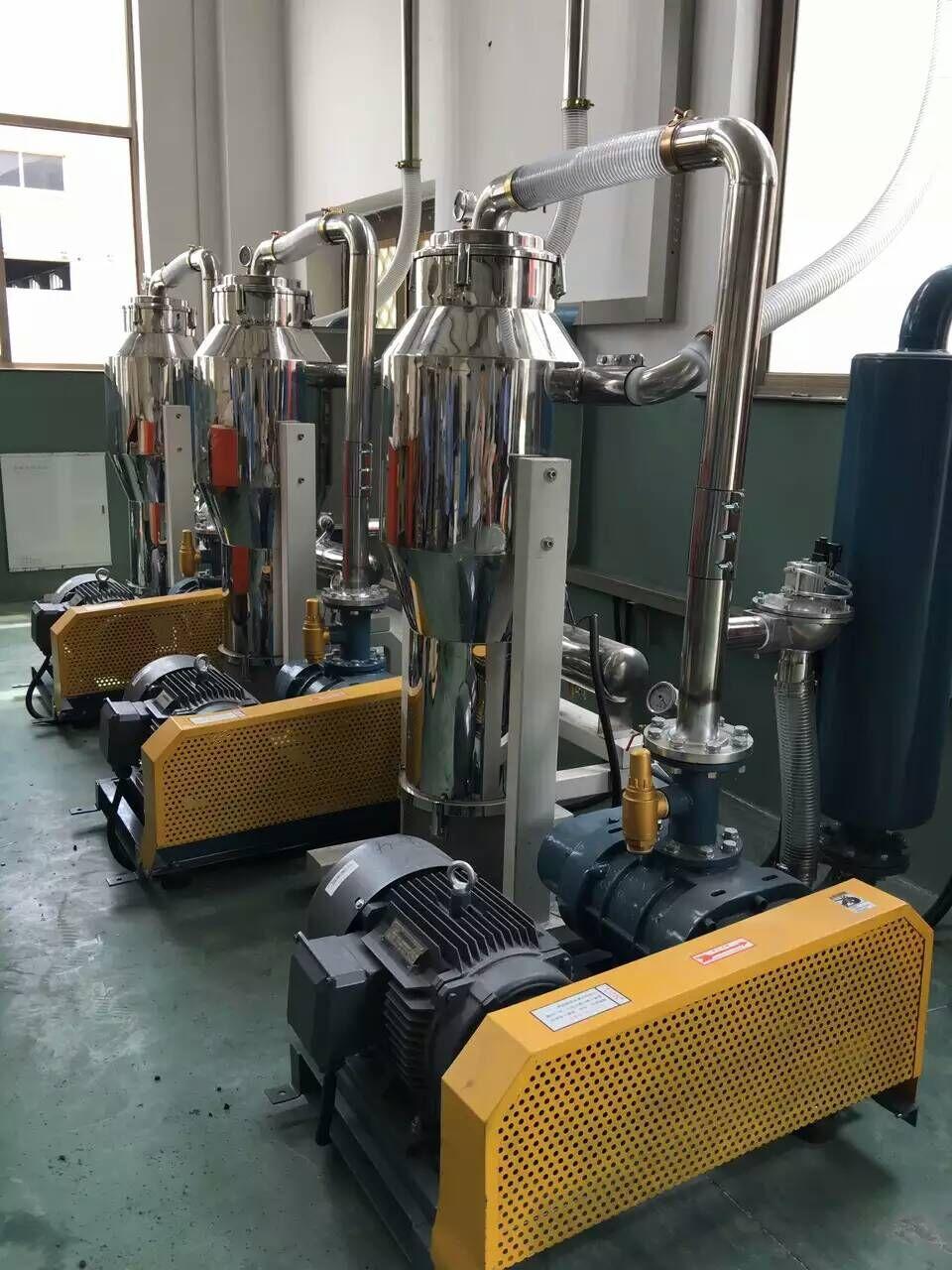 龙铁罗茨真空泵中央供料